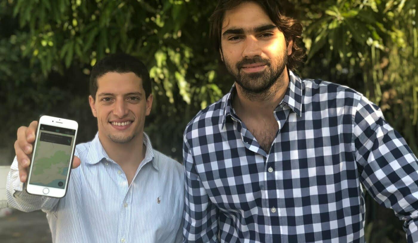 Eduardo Motta e João Zechin são os responsáveis pela operação do aplicativo Moov.
