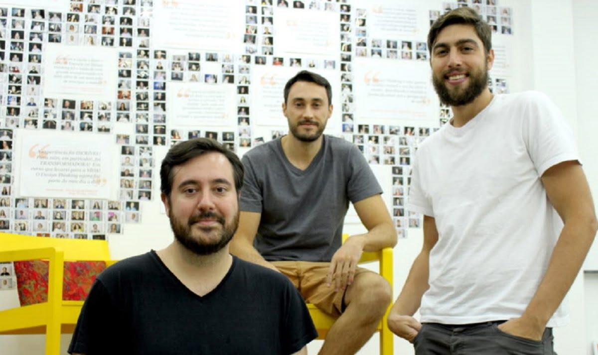 Da fundação da Descola, em 2014, permaneceram no negócio os sócios André Tanesi, Gustavo Paiva e Daniel Pasqualucci (da direita para a esquerda).