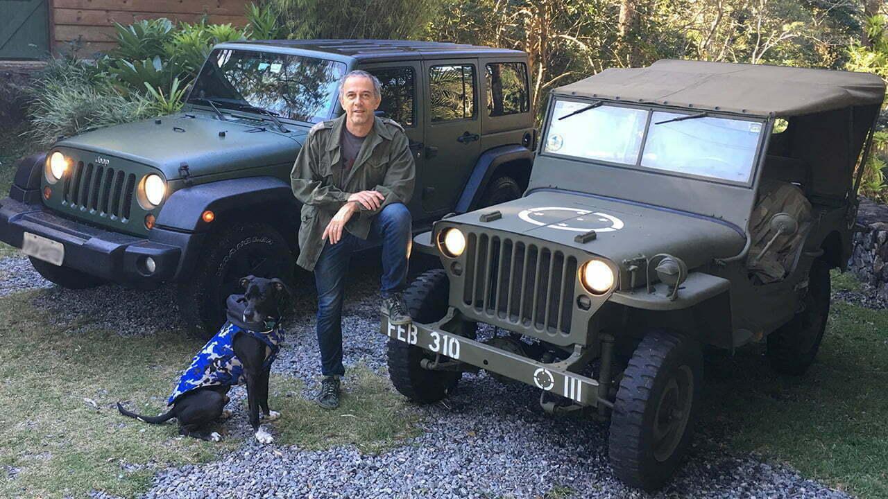 João Barone com seus Jeeps