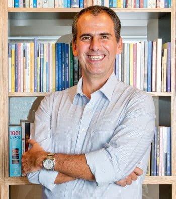 Marcos Pereira, da Editora Sextante, apostou no livro de Cris (foto: André Maceira).