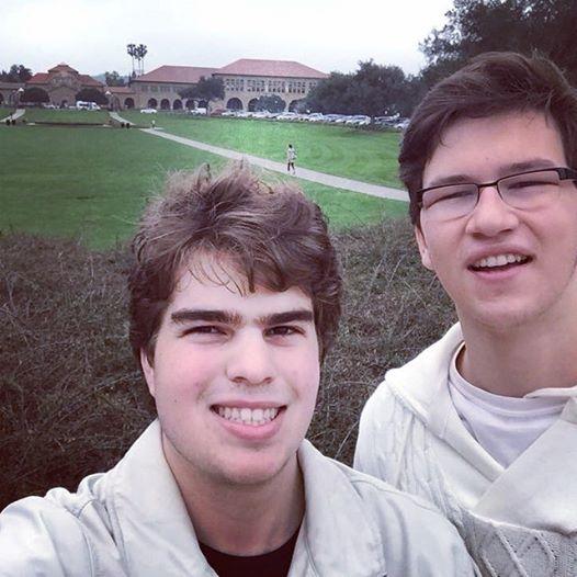 Pedro e Henrique visitaram campus de Stanford em fevereiro deste ano. Eles vão para lá em 2016.