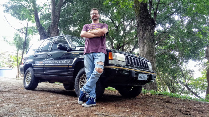 Marcos Rozen e seu Jeep Grand Cherokee Limited 1995