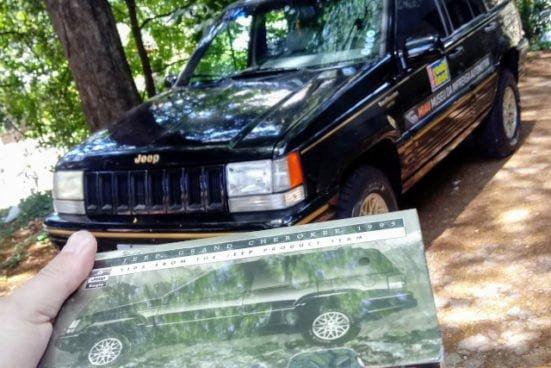 Fita VHS de lançamento do Jeep Grand Cherokee