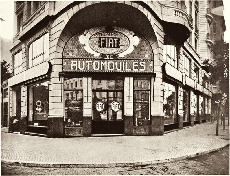 Antiga fachada Fiat em Buenos Aires, Argentina