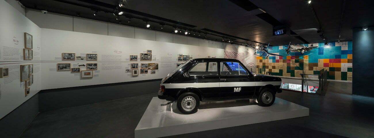 Fiat 147 na exposição Percorsi Italiani, na Casa Fiat de Cultura