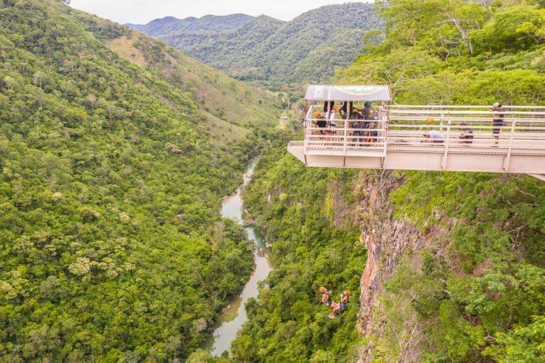 Rapel Cachoeira Boca da Onça, Bodoquena, Pantanal