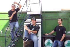A partir da esq.: Adriano, Rodrigo e Leandro, cofundadores da Green Mining.